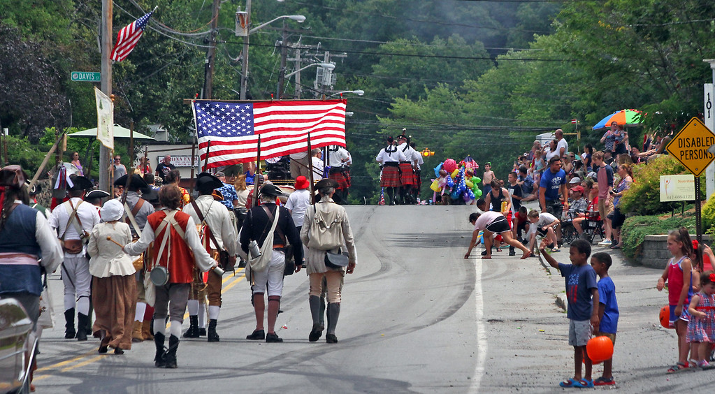 . Pepperell 4th of July Parade heading down Main Street.Nashoba Valley Voice Photo by David H. Brow