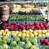 An array of fruit and veggies from Spiczka Farm of Groton at the Pepperell Farmers Market. SUN/David H. Brow