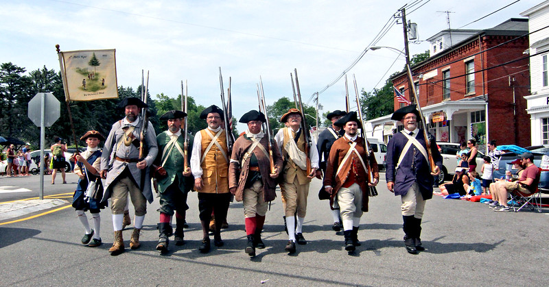 The 6th Middlesex Regiment marching in the annual 4th of July parade in Pepperell. SUN/David H.Brow
