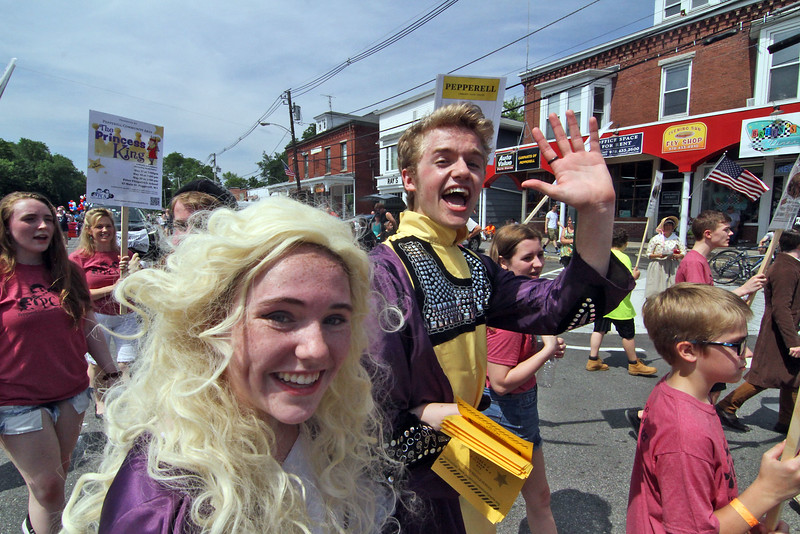 Members of the Pepperell Community Arts group in the 4th of July parade. SUN/David H.Brow