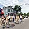 Local veterans lead the Pepperell 4th of July parade through the center of town. SUN/David H.Brow