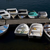 Row of row boats Perkins Cove Harbor, Maine