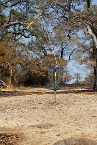 The Peregrine Point Disc Golf Course was scorched by the Stoney Fire. The charred course is seen Tuesday, Aug. 14, 2018, in Chico, California. (Dan Reidel -- Enterprise-Record)