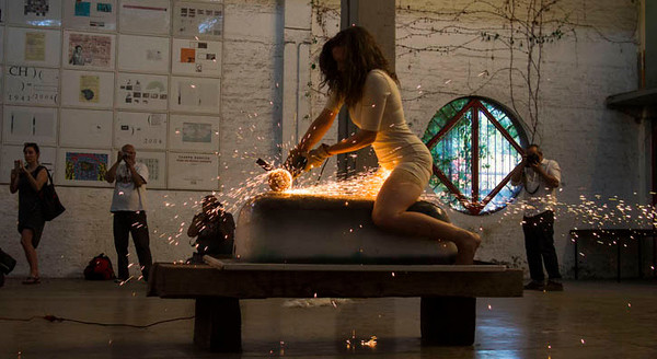 Mairead Delaney, Breach, DEFORMES Biennale in Chile. Photo: Gonzalo Rabanal