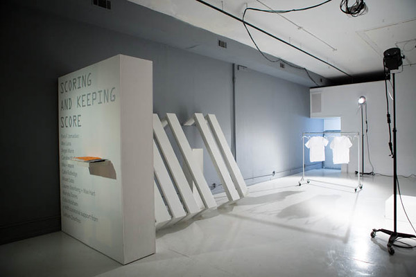 Misael Soto, <i>Score for Scoring and Keeping Score</i>, exhibition view