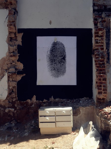Fingerprint, Gradient_ from gray to color scale festival, Ioannina, Greece