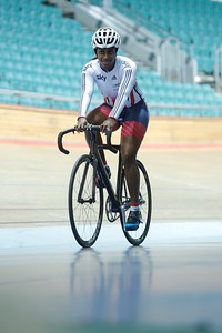 ParalympicsGB athlete Kadeena Cox at the Velodrome announcing her Rio selection. By Ade Hunter.