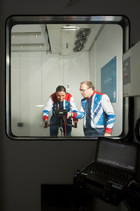 Visit of Sarah and Barney Storey to the Exercise and Sport Science Centre  at Crewe Campus.