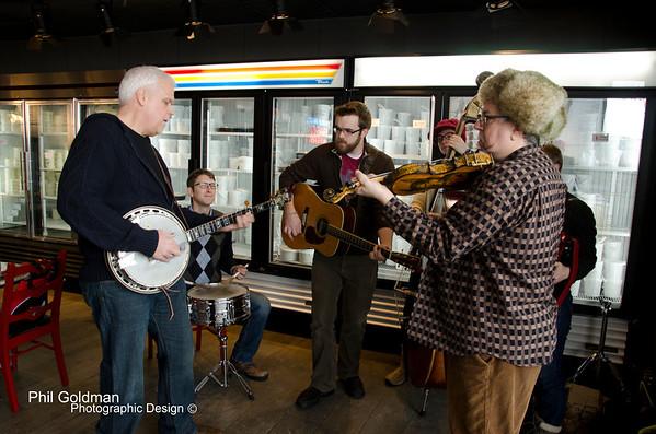 Banjos & Bagels at Kaufman's Deli