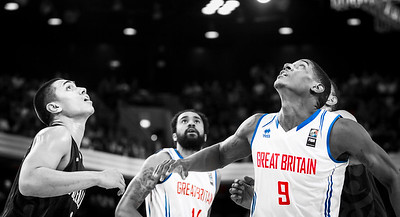 Great Britain vs. New Zealand Tall Blacks at the Copper Box Arena, London, 25th July 2015. NZ win 84-63
