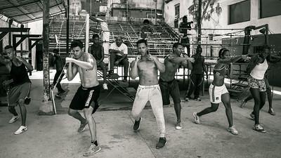 Young boxers training at the famous Gimnasio de Boxeo Rafael Tejo, Rafael Tejo