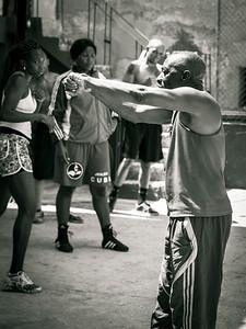 Boxing Coach Nardo Mestre Flores at the famous Gimnasio de Boxeo Rafael Tejo, Rafael Tejo