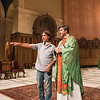 With Kevin Lawler as the priest in the stunningly gorgeous Saint Cecilia's Cathedral. More pointing.