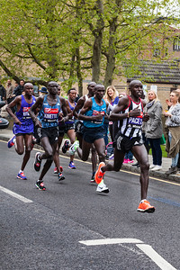 The Men's Elite Runners group with later winner Eliad Kipchoge