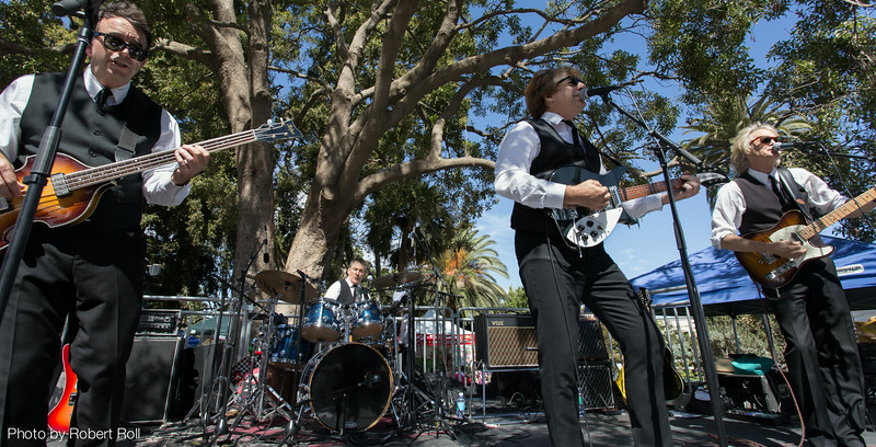 """Dennis Neil Jones, Lynn """"Skins"""" Coulter, Bill Horn and Tom Kolb had visitors twistin' the day away as Sgt. Pepper at the sixth annual Camarillo Chili Cook-Off and Music Festival."""