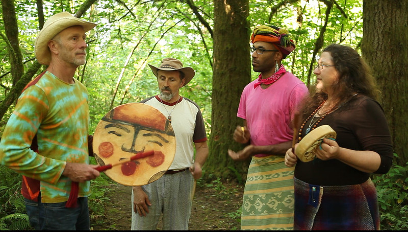 Winkte, Winkte Dance with Me, by Jicama. Sung by Jicama, Favero Greenforest, Mother Sister and Jennnifer Hawke. The original version. Recorded at the Second Benson Campfire Confab, July, 2011