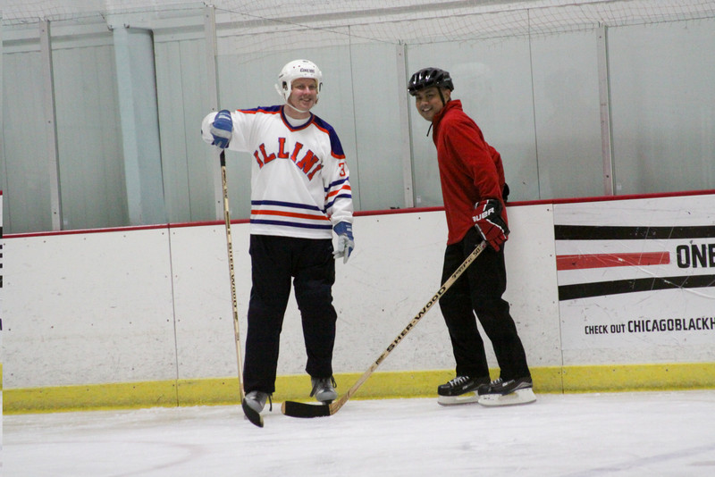 <b>Chat break? There's no chatting in hockey! Get back to work!</b>