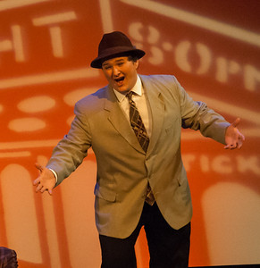 "John plays ""Rusty Charlie"" in the HHS production of ""Guys & Dolls""."