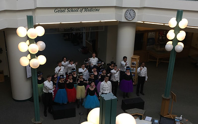 HHS Chorus performs at Dartmouth-Hitchcock hospital.