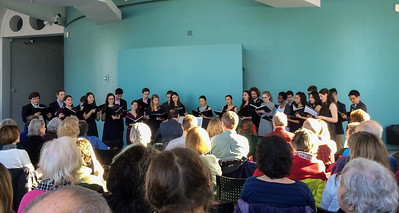 John and the Glee Club in winter concert