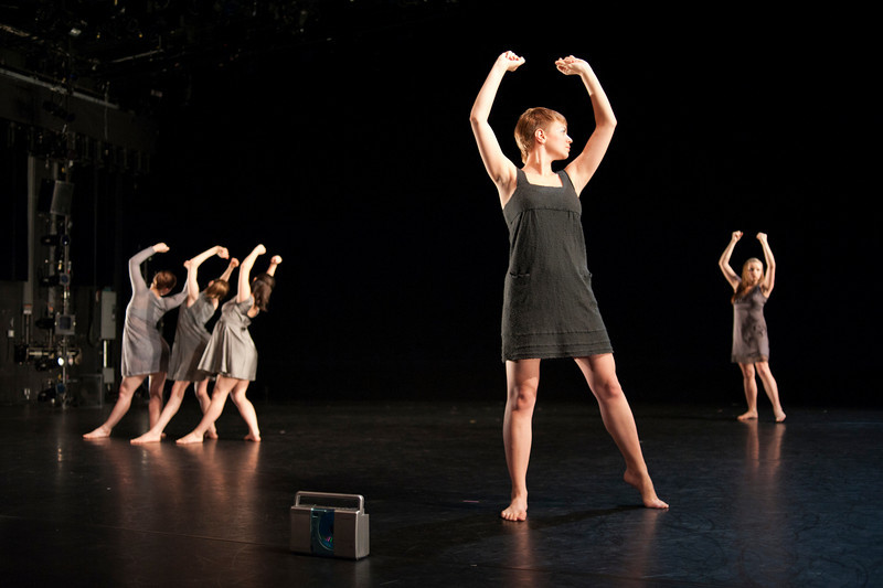 """Lucia, Rebecca, Maya, Valerie, Alicia, Leah, and Alice go dancing"" at Dance Theatre Workshop"
