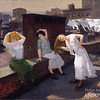 John Sloan (1871–1951)<br /> Sunday, Women Drying Their Hair, 1912<br /> oil on canvas<br /> 26 1/8 x 32 1/8 in. (66.4 x 81.6 cm)<br /> 1938.67<br /> museum purchase, Addison Gallery of American Art, Phillips Academy, Andover, MA