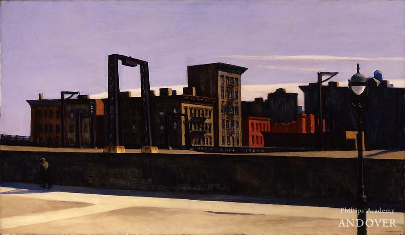 Edward Hopper (1882–1967)<br /> Manhattan Bridge Loop, 1928<br /> oil on canvas<br /> 35 x 60 in. (88.9 x 152.4 cm)<br /> 1932.17<br /> gift of Stephen C. Clark, Esq., Addison Gallery of American Art, Phillips Academy, Andover, MA