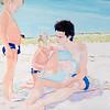 Billy Sullivan (b. 1946)<br /> Max, Sam & Edo, 2011<br /> oil on linen <br /> 72 x 102 in. (182.9 x 259.1 cm)<br /> Parrish Art Museum, Southampton, New York