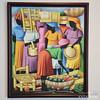 Marketplace. Pouis. 2012. Oil on fabric.
