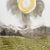 Rachel Davis, Tea Fields, 2015,watercolor on paper, 30 x 22 in., gift of Robert Feldman (PA 1954) in memory of Beth Lisa Feldman, 2016.3