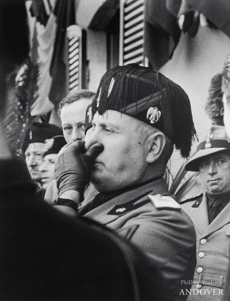 Lucien Aigner, Mussolini at Stresa, 1935. Gelatin silver print, 13 × 10 1/16 in. (33 × 25.6 cm)