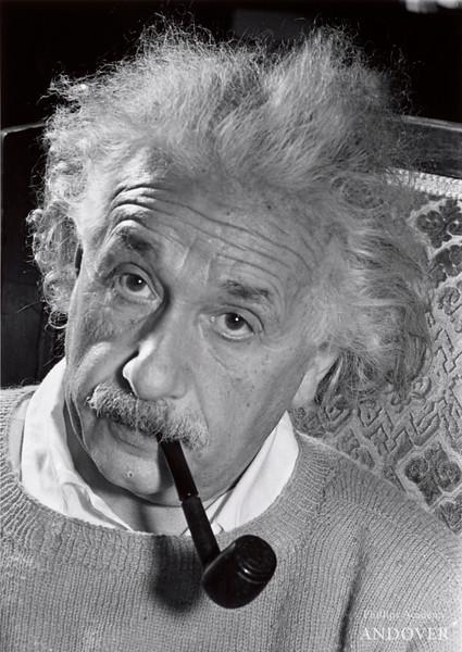 Lucien Aigner, Albert Einstein, Princeton, 1940. Gelatin silver print, 10 7/8 × 7 11/16 in. (27.6 × 19.6 cm)