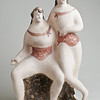 Elie Nadelman (1882–1946) Two Women [Two Acrobats], ca. 1930–35<br /> Painted glazed ceramic,<br /> 16 x 8 x 5 in.<br /> Collection of Catherine Tinker © Estate of Elie Nadelman