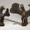 Wilhelm Schimmel (American, 1817–1890) Carved eagles, ca. 1865–70<br /> Wood, paint, primer, largest height: 13 3/4 in. New-York Historical Society, Purchased from Elie Nadelman, INV.7954 and 1937.1124