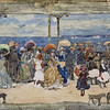 Maurice Prendergast, On the Pier, Nantasket, c. 1900–05, watercolor and graphite on wove paper, gift of anonymous donor, 1928.49