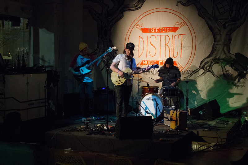 No fancy lights or stage props.  Just a nice quiet reprieve for those who wanted to chill.  That was the atmosphere at The District when Bodies On The Beach did their set on Thursday night for Treefort, Boise, Idaho.
