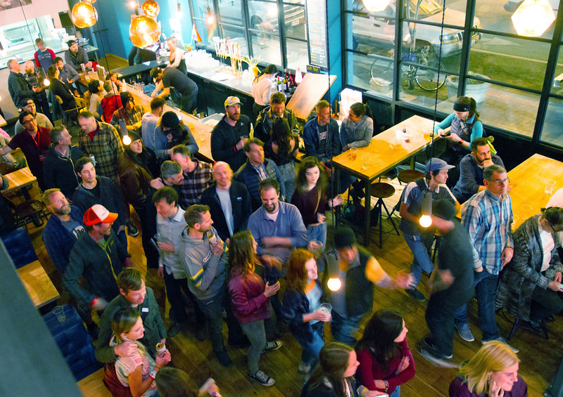 The crowd was groovin' to the tunes of Ryan Peck at the Funky Taco on Thursday night for Treefort, Boise, Idaho.