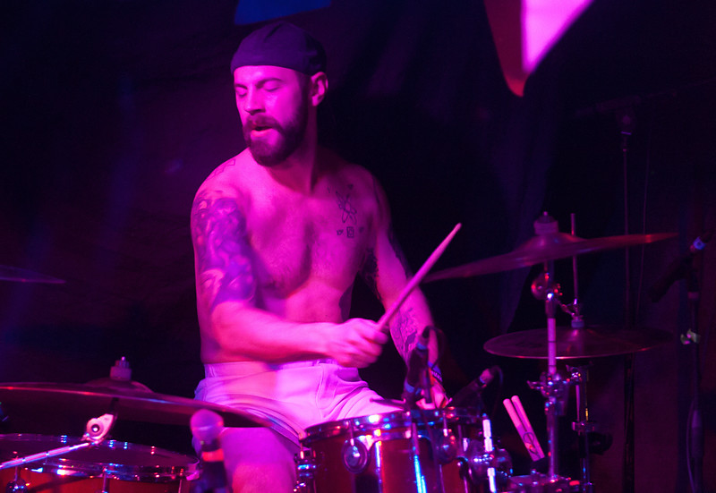Sam Gates on drums for Delta Mud performs during the bands set at Humpin Hannah's for Treefort, Boise, Idaho.