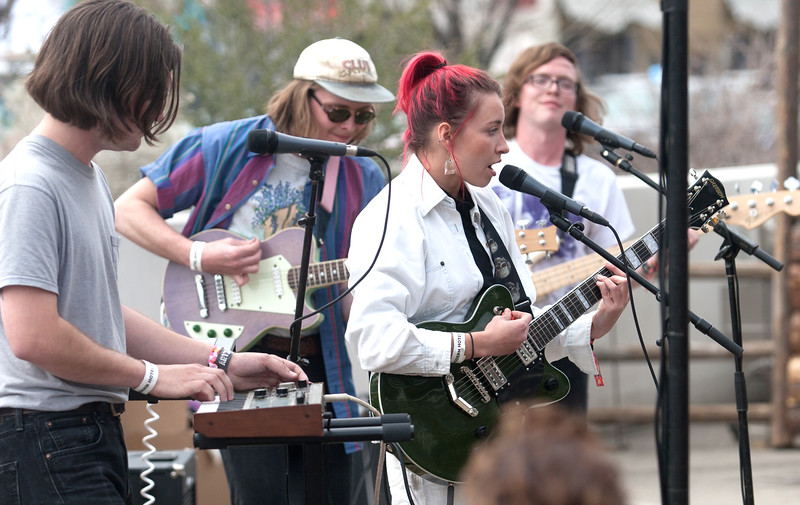 Bands performed in the parking lot of The Modern Hotel during Treefort, Boise, Idaho.