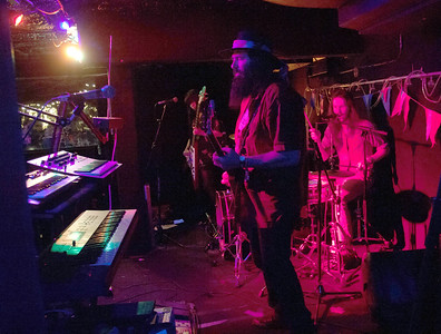 Snoozy Moon plays their set in Grainey's Basement during Treefort Music Fest, Boise, Idaho.