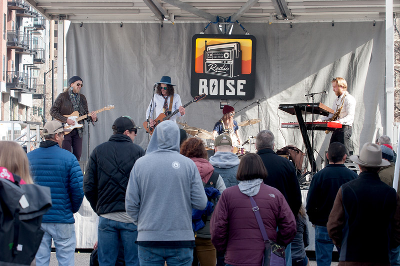 General Mojo's performing on the stage on Grove St. during the Treefort Music Fest on Sunday.