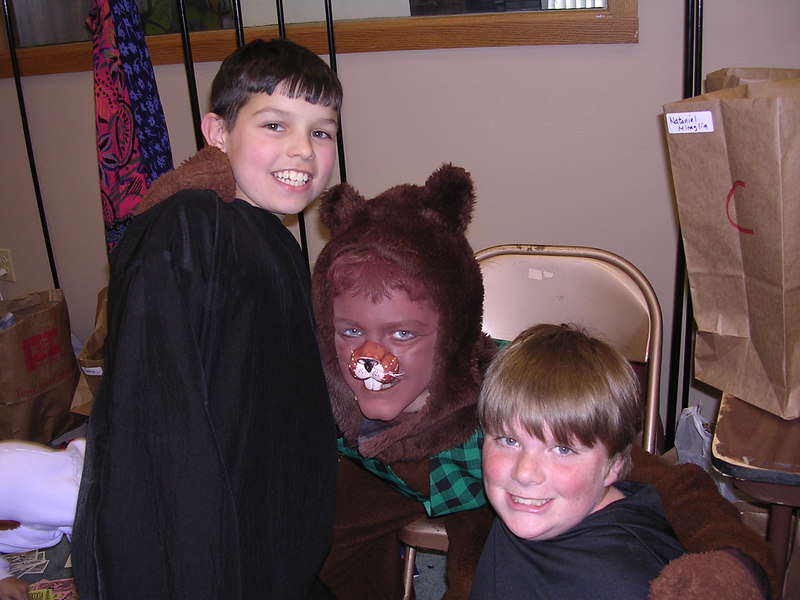 Lots of neat friendships were made during the Narnia production.