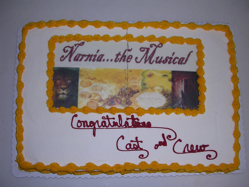 Beautiful cake donated for the cast party by Sam's Club in Horsheads, NY