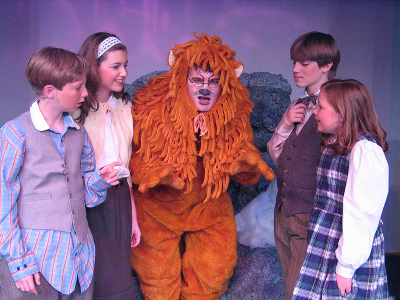 Aslan, the Lion, explains to Edmund, Susan, Peter and Lucy about the secrets of the land of Narnia, into which the children stumbled through a magical wardrobe.