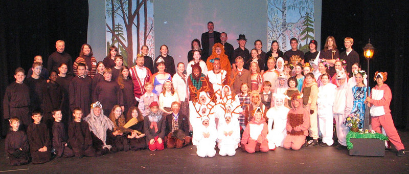 The entire cast and crew and orchestra from Narnia