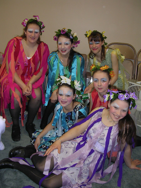 Dryads await their appearance on stage.