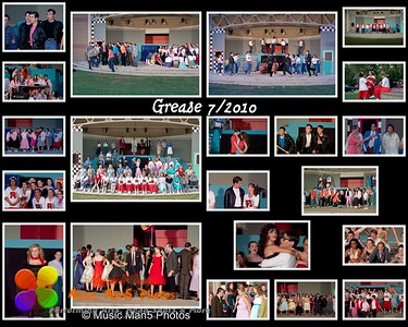 Grease performance collage  Print sizes are 8x10, 11x14, 16x20 or 24x30.     ©Music Man5 Photos
