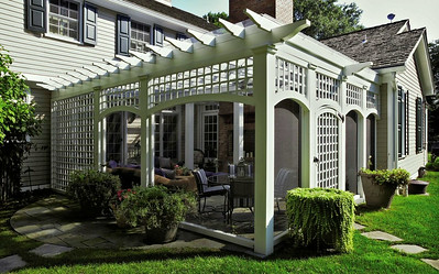 873 - NJ - Pergola with Arches & Lattice