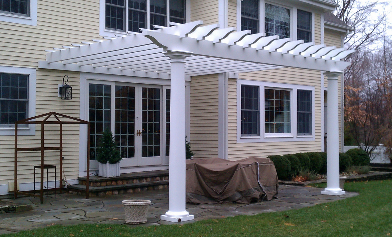 185 - Pound Ridge NY - Custom Attched Pergola