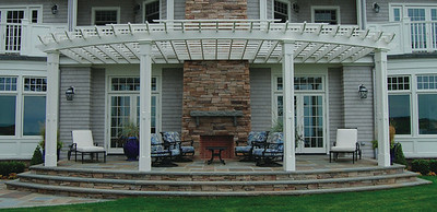 286 - 450325 - Old Westbury NY - Arched Beam Pergola